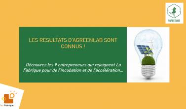 Résultats Agreenlab